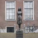 Statue of Anne Frank, by Mari Andriessen, outside the Westerkerk in Amsterdam - 450 x 600