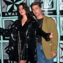 Jason Priestley with music video costar Jennifer Connelly