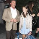 Sylvester Stallone, 67, steps out with his gorgeous wife Jennifer and daughters Sistine and Scarlet