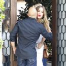 Sofia Vergara is spotted with friends at Cecconi's in West Hollywood, California on June 8, 2016