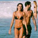 Izabel Goulart in Black Bikini at the beach in Brazil - 454 x 681