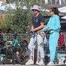 Joel Kinnaman and Kelly Gale head out for lunch and then to a dog park with their dog Zoe in Venice Beach, California - 454 x 350