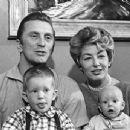 Kirk Douglas and family