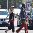 Kirsten Dunst – Seen Out for a walk with a friend in Studio City - 454 x 537