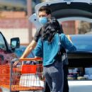 Camila Mendes with her boyfriend Grayson Vaughan shopping in Los Angeles