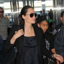 Angelina Jolie Jfk Airport In Nyc
