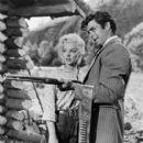 Rory Calhoun and Marilyn Monroe