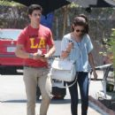 Selena Gomez and actor David Henrie out on a lunch date at Kabuki in Hollywood, California on June 8, 2013 - 454 x 582