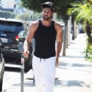 Maksim Chmerkovskiy stops by Hammer & Nails, a nail salon for men, in West Hollywood, California on August 7, 2014 - 435 x 594