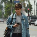 Ruby Rose in Ripped Jeans – Heading to a movie studio in LA