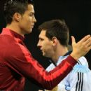 Cristiano Ronaldo and Lionel Messi picture special: Old foes are all smiles as they go to battle for Argentina vs Portugal at Old Trafford