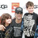 Slash with his children