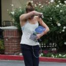LeAnn Rimes: leaving a gym in Calabasas