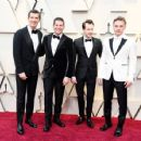 Gwilym Lee, Allen Leech, Joseph Mazzello, and Ben Hardy At The 91st Annual Academy Awards - Arrivals - 454 x 354