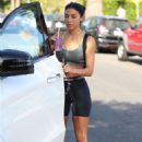 Chantel Jeffries in Shorts – Heads to the gym in West Hollywood