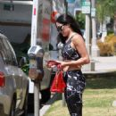 Nikki Bella – Heads into a morning workout session in West Hollywood