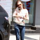 Lily Collins shopping in West Hollywood
