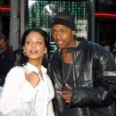 Nick Cannon and Christina Milian the Matrix Reloaded - Premiere - Mann Village Theater, Westwood, CA - May 7, 2003 - 359 x 480