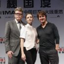 Rebecca Ferguson poses for a picture after the Shanghai Press Conference of Mission: Impossible - Rogue Nation at the Shanghai Film Center on August 6, 2015 in Shanghai, China - 454 x 340