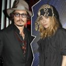 Ashley Olsen and Johnny Depp