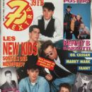 New Kids on the Block - 7 Extra Magazine Cover [Belgium] (19 February 1992)