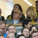 Rupert Murdoch, 84, and girlfriend Jerry Hall, 59, are pictured together for the first time at Rugby World Cup final - 31 October 2015