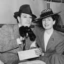 Norma Shearer and George Raft  attend the horse races at Santa Anita racetrack, Arcadia, Calif - 454 x 378