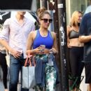 Jessica Alba – Leaves a workout session in West Hollywood