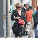 Elsa Hosk – Wearing a polkadot dress out in New York - 454 x 681