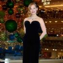 Jessica Chastain – Les Galeries Lafayette Christmas Decorations Inauguration in Paris