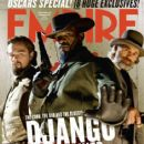 Christoph Waltz, Leonardo DiCaprio, Jamie Foxx - Empire Magazine Cover [United Kingdom] (January 2013)