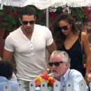 'Dallas' actor Jesse Metcalfe grabs lunch with his fiance Cara Santana and her parents at The Ivy in Los Angeles, California on August 20, 2013