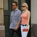 Michael Vartan and girlfriend Lauren Skaar in SoHo