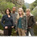 (L-R) Carla Gugino, Dwayne Johnson, AnnaSophia Robb, Alexander Ludwig. Ph: Ron Phillips © 2008 Disney Enterprises, Inc. All rights reserved.