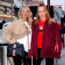 Christie Brinkley with her daughter arriving to the Knicks vs Heat Basketball game in NYC - 454 x 542