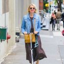 Naomi Watts Ride a Scooter – Out in New York - 454 x 582