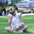 Ashley Greene – Walking her dog in Beverly Hills - 454 x 527