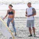 Dwayne Johnson- March 28, 2016-The Set of Baywatch - 454 x 334