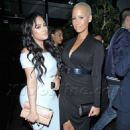 Amber Rose and Emily B at Bootsy Bellows nightclub in West Hollywood, California - June 26, 2014 - 454 x 679