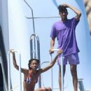 Willow Smith in Bikini on the yacht in Maddalena Archipelago