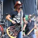 """Bret Michaels performs at """"FOX & Friends"""" All American Concert Series outside of FOX Studios on July 10, 2015 in New York City."""