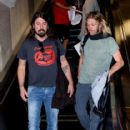 Dave Grohl and Taylor Hawkins spotted at LAX