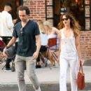 Keri Russell with Matthew Rhys – In tank top while out in Tribeca - 454 x 549