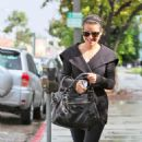 Lea Michele: Pampering in Beverly Hills
