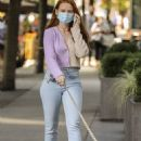 Madelaine Petsch – Out for a dog walk in Vancouver - 454 x 681