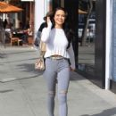 Mara Teigen in Ripped Jeans – Out in Beverly Hills - 454 x 624