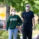 Emmy Rossum with Sam Esmail – Out for a walk in Toluca Lake