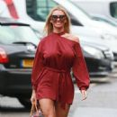 Christine McGuinness in Red Mini Dress – Out in Cheshire - 454 x 794