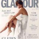 Helena Christensen - Glamour Magazine Cover [Iceland] (December 2017)