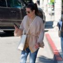 Lea Michele – Leaving XIV Karats, Ltd Jewelry store in Beverly Hills